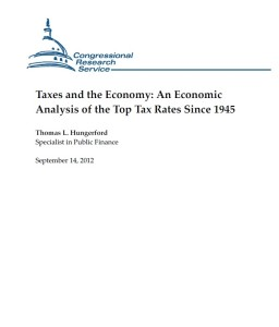 Taxes and the Economy